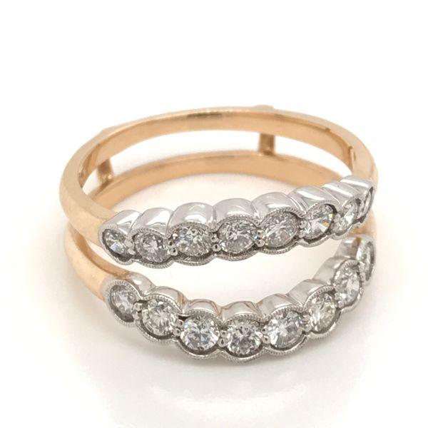 14 Karat Two-Tone Diamond Ring Enhancer JWR Jewelers Athens, GA