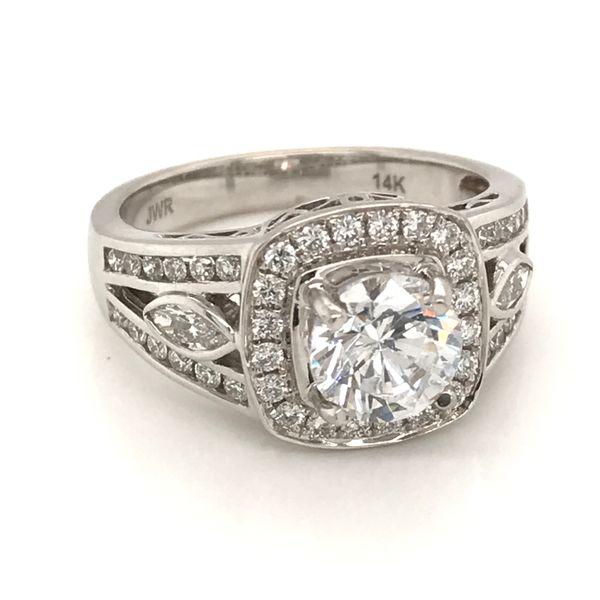 18K White Gold Diamond Semi-Mount Engagement Ring JWR Jewelers Athens, GA