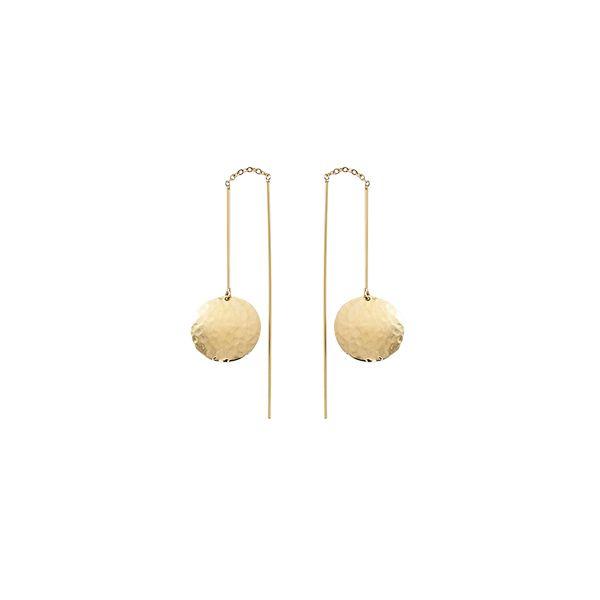14-Karat Yellow Gold Dangle Earrings JWR Jewelers Athens, GA
