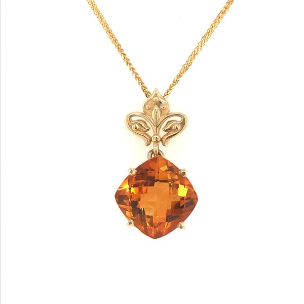 14K Yellow Gold Citrine Necklace JWR Jewelers Athens, GA