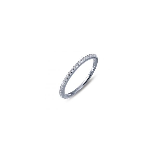 Lafonn Platinum Bonded Sterling Silver  0.58 twt  Lassaire Stone Eternity Bandnd JWR Jewelers Athens, GA