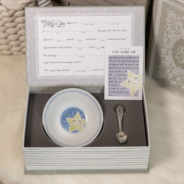 Star Baby Bowl and Spoon Gift Set JWR Jewelers Athens, GA