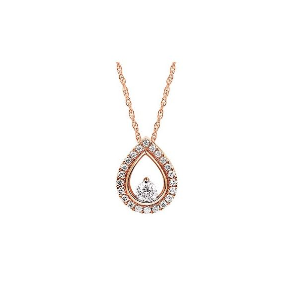 14K Rose Gold Diamond Necklace JWR Jewelers Athens, GA