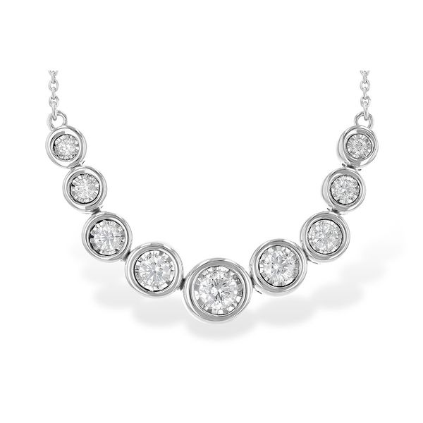 14K White Gold Diamond Necklace JWR Jewelers Athens, GA