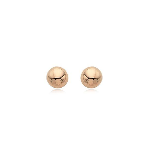 14-Karat Rose Gold Earring Studs JWR Jewelers Athens, GA