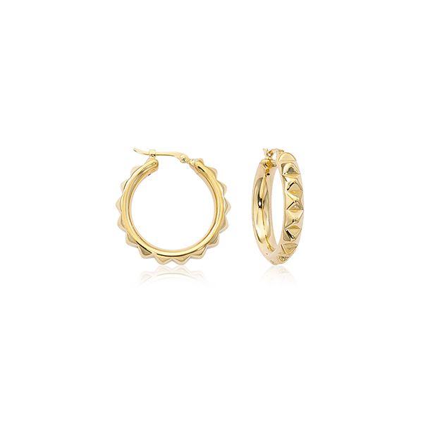 14-Karat Yellow Gold Hoops JWR Jewelers Athens, GA