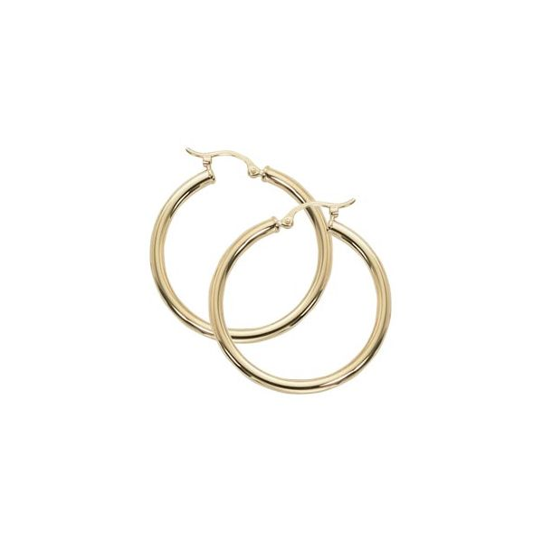 14-Karat Yellow Gold Hoop Earrings JWR Jewelers Athens, GA