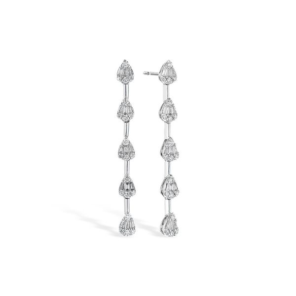 14K White Gold Diamond Earrings JWR Jewelers Athens, GA
