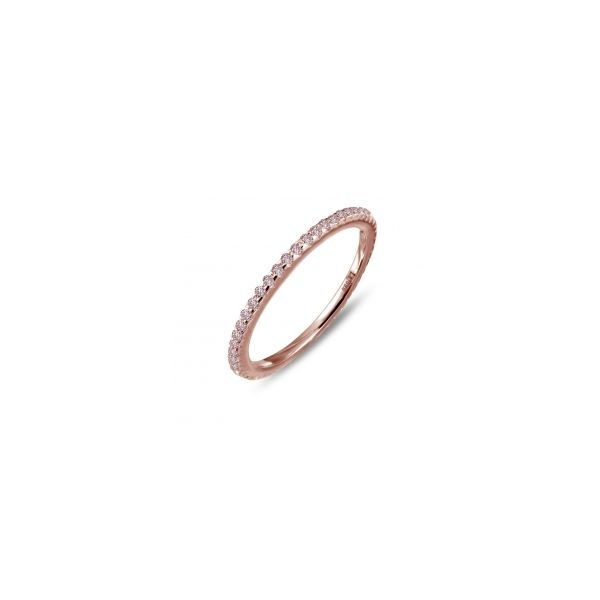 Lafonn Rose Gold Plated Silver 0.58 twt  Lassaire Stone Wedding Band JWR Jewelers Athens, GA