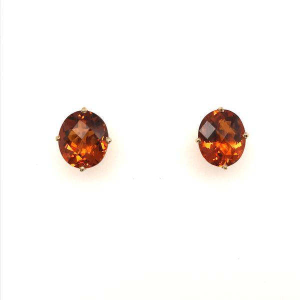 14K Yellow Gold Madeira Citrine Earrings JWR Jewelers Athens, GA