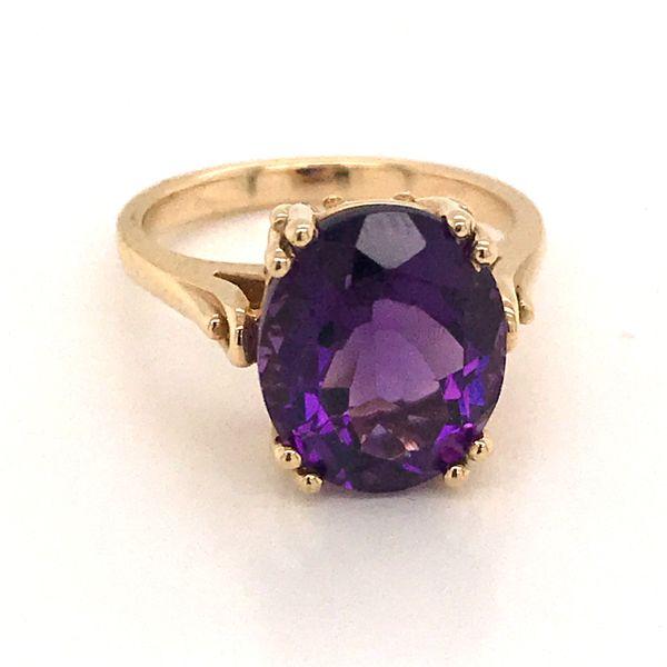 14K Yellow Gold Amethyst Ring JWR Jewelers Athens, GA