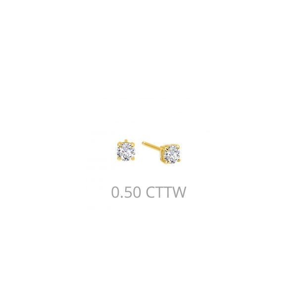 Lafonn Yellow Plated Silver 0.50 twt  Lassaire Stone Earring Studs JWR Jewelers Athens, GA