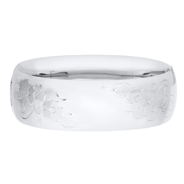 Sterling Silver Hinged Bangle Bracelet JWR Jewelers Athens, GA
