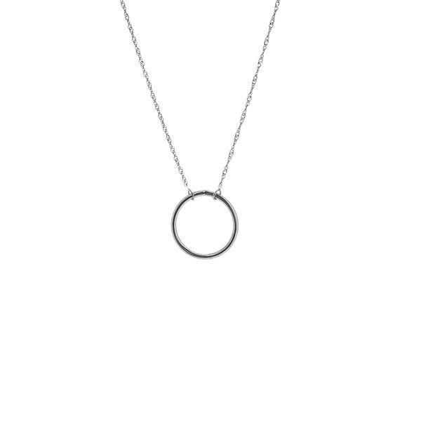 14-Karat White Gold Circle Necklace JWR Jewelers Athens, GA