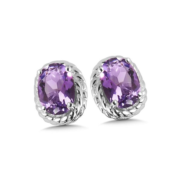 Sterling Silver Amethyst Earring Studs JWR Jewelers Athens, GA