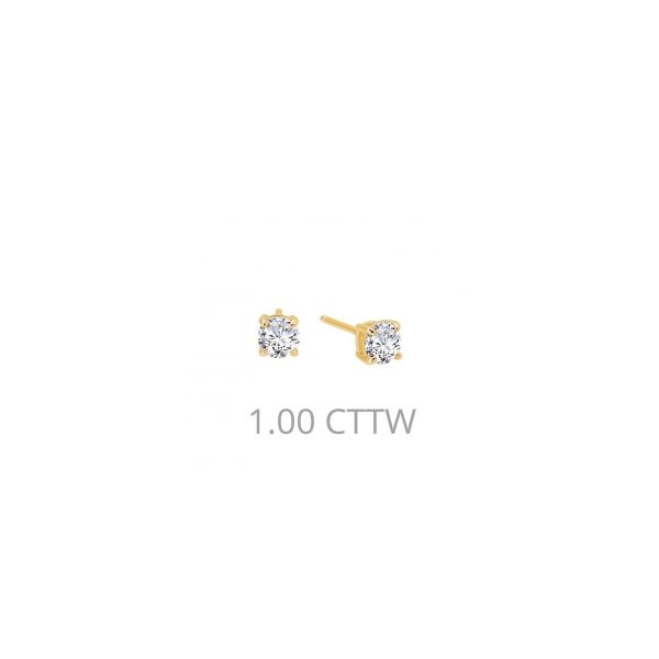 Lafonn Yellow Plated Silver 1.0 twt  Lassaire Stone Earring Studs JWR Jewelers Athens, GA