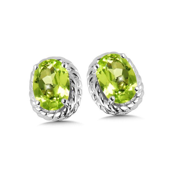 Sterling Silver Peridot Earring Studs JWR Jewelers Athens, GA