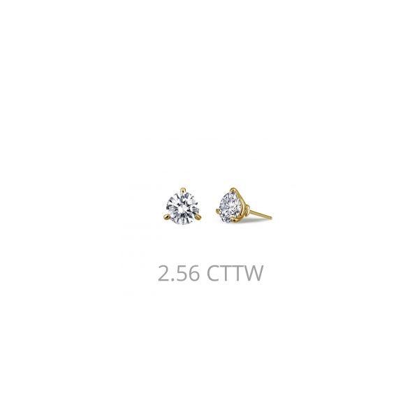 Lafonn Yellow Plated Silver 2.56 twt  Martini Set Lassaire Stone Earring Studs JWR Jewelers Athens, GA