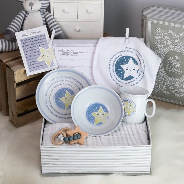 Star Baby Gift Set: cup, plate, bowl, bib and teether JWR Jewelers Athens, GA