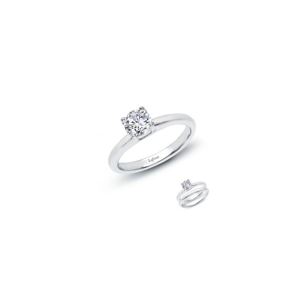 Lafonn Platinum Bonded Sterling Silver  1.0 twt  Lassaire Stone Solitaire Engagement Ringand JWR Jewelers Athens, GA