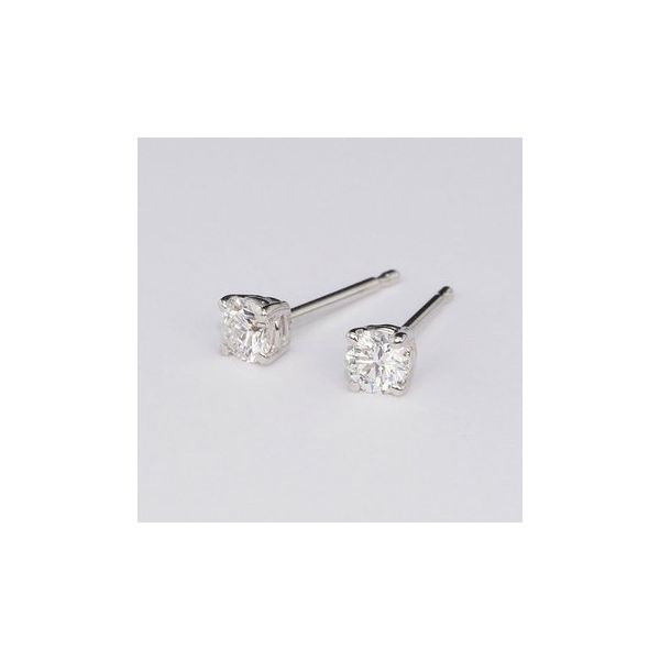 Diamond Solitaire Stud Earrings JWR Jewelers Athens, GA