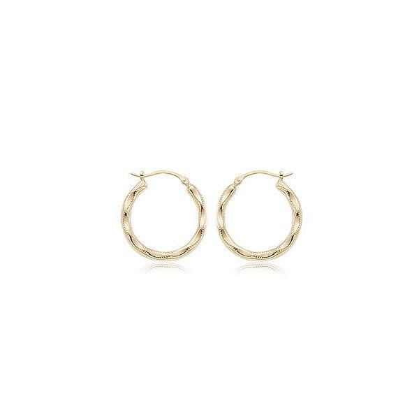 14-Karat Yellow Gold Hoop Earrings JWR Jewelers Athens, GA