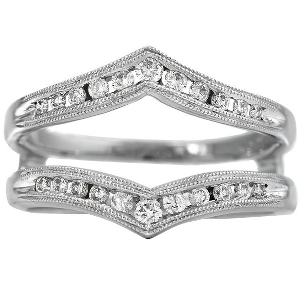 14K White Gold Diamond Enhancer Ring JWR Jewelers Athens, GA