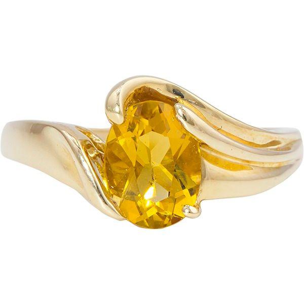 14-Karat Yellow Gold Citrine Ring JWR Jewelers Athens, GA