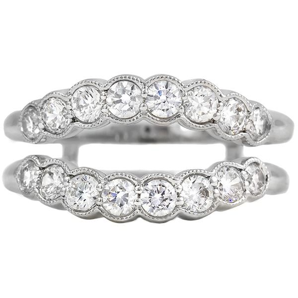 14K White Gold Diamond Enhancer Ring JWR Jewelers Athens, GA