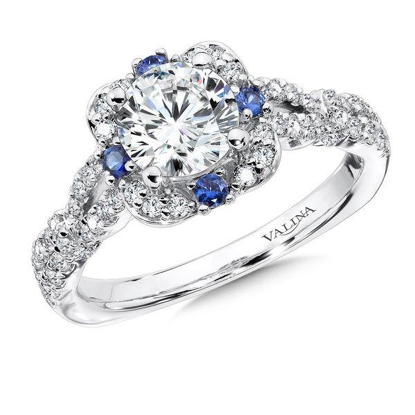 14K White Gold Diamond Semi-Mount Engagement Ring JWR Jewelers Athens, GA