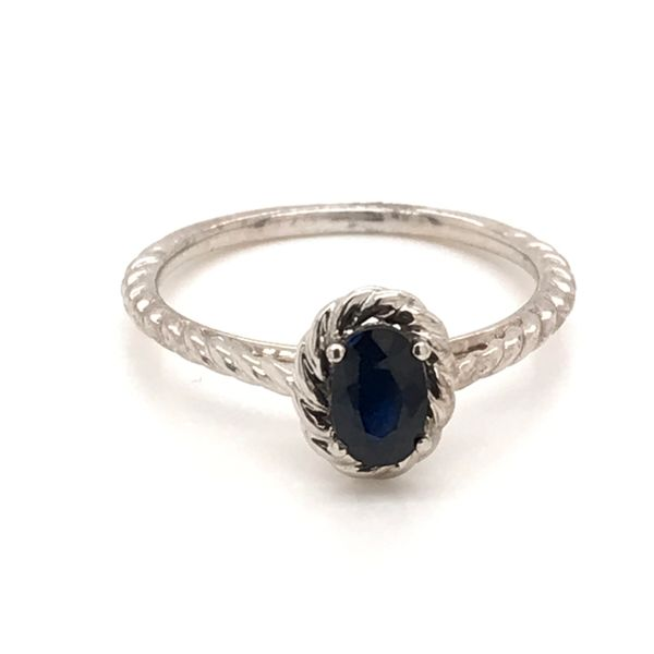 14K White Gold Sapphire Ring JWR Jewelers Athens, GA