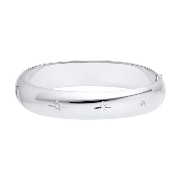 Sterling Silver Hinged Bangle Bracelet JWR Jewelers Athens, GA