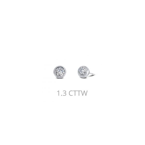 Lafonn Sterling Silver bonded in Platinum 1.0 twt Lassaire Earring Studs JWR Jewelers Athens, GA