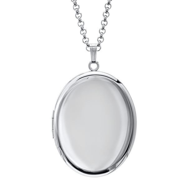 Sterling Silver Oval Locket JWR Jewelers Athens, GA