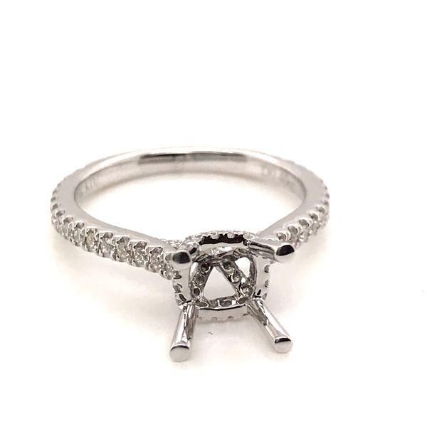 18K White Gold  Semi-Mount Engagement Ring JWR Jewelers Athens, GA