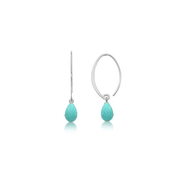 SS Dangle Earrings with Colored Stones JWR Jewelers Athens, GA