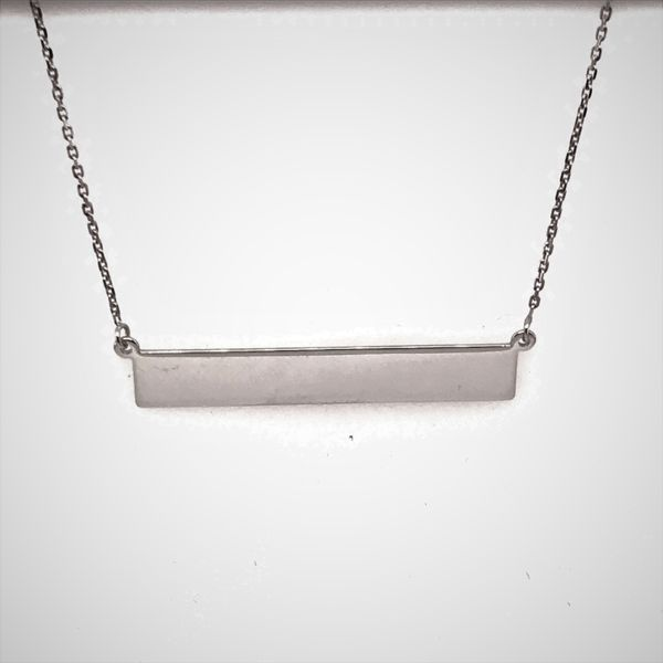 Sterling Silver Bar Necklace JWR Jewelers Athens, GA