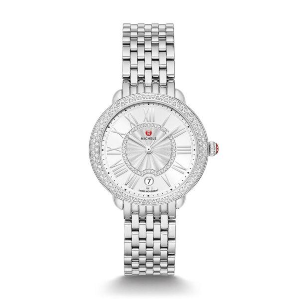 Serein 16 Silver White Sunray Dial with Diamond Bezel Watch Kiefer Jewelers Lutz, FL