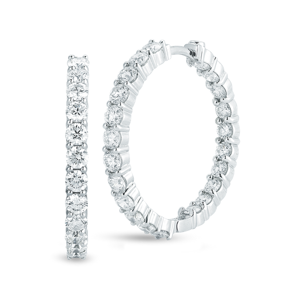 18KW Diamond Hoops by Roberto Coin Kiefer Jewelers Lutz, FL
