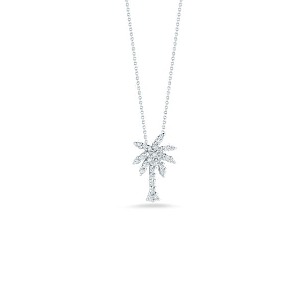 18KW Diamond Palm Tree Necklace Kiefer Jewelers Lutz, FL