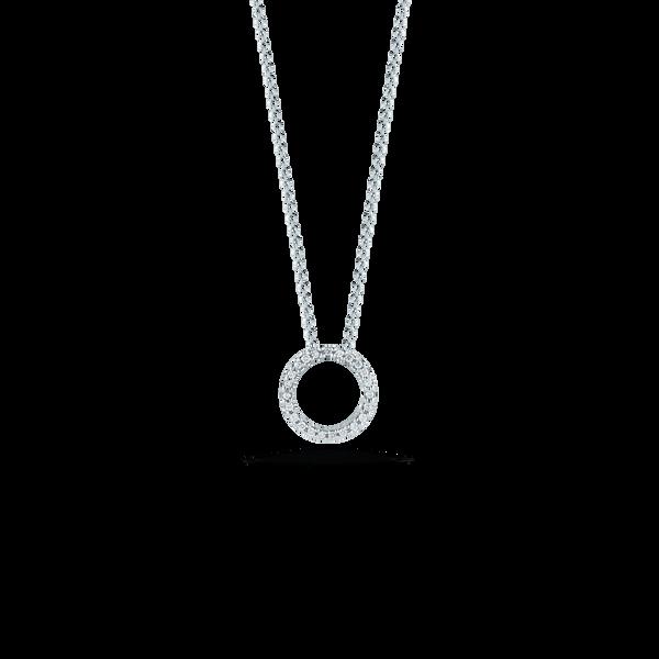 18KW Diamond Circle Pendant By Roberto Coin Kiefer Jewelers Lutz, FL