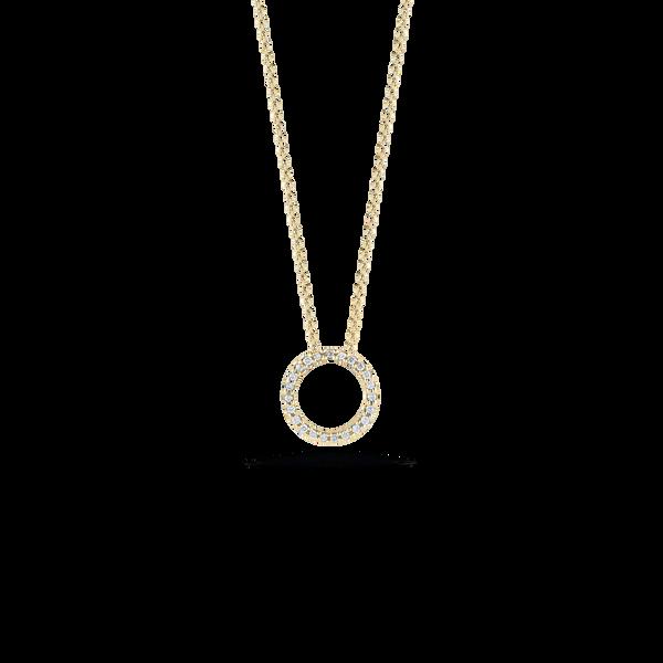 18KY Diamond Circle Necklace by Roberto Coin Kiefer Jewelers Lutz, FL