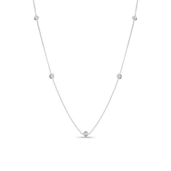 18KW Diamond Station Necklace by Roberto Coin Kiefer Jewelers Lutz, FL