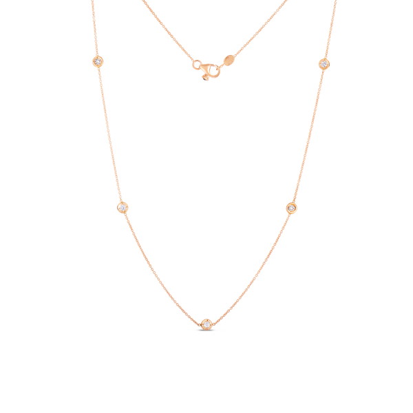 18KR Diamond Station Necklace by Roberto Coin Kiefer Jewelers Lutz, FL