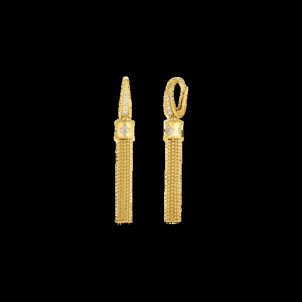 18KY Diamond Tassel Earrings by Roberto Coin Kiefer Jewelers Lutz, FL