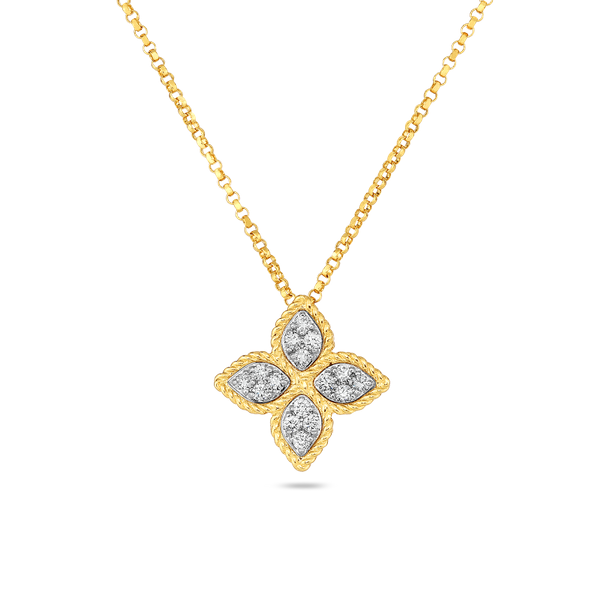 18K Two-Tone Diamond Necklace by Roberto Coin Kiefer Jewelers Lutz, FL