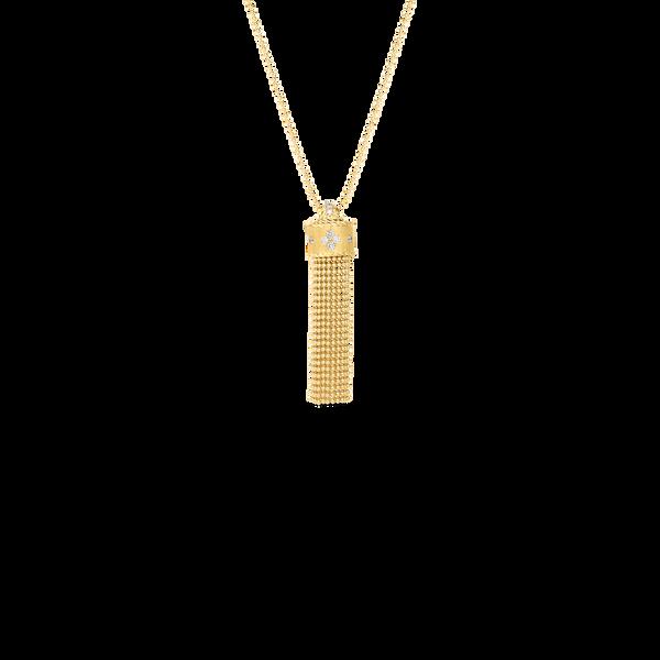 18KY Diamond Tassel Necklace by Roberto Coin Kiefer Jewelers Lutz, FL