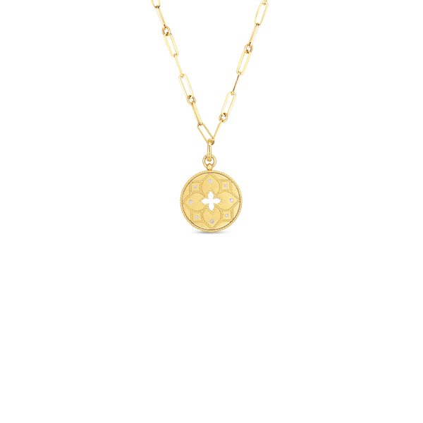 18KY Diamond Medallion Necklace by Roberto Coin Kiefer Jewelers Lutz, FL