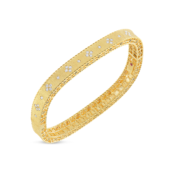 18KY Diamond Bangle by Roberto Coin Kiefer Jewelers Lutz, FL