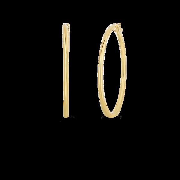 18KY Gold Hoop Earrings by Roberto Coin Kiefer Jewelers Lutz, FL